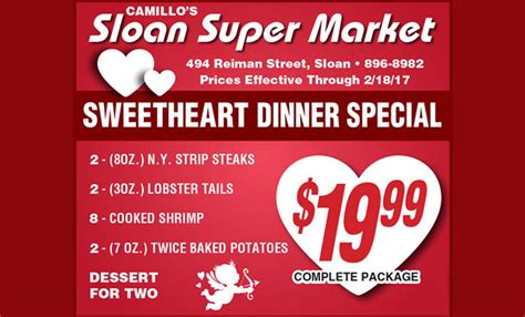 valentines dinner specials sloan market specializing in fresh meats and