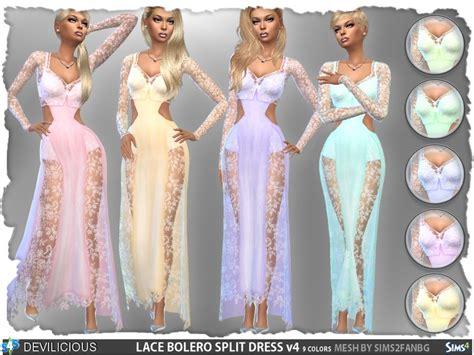Set Longdress Bolero devilicious lace bolero split dress set