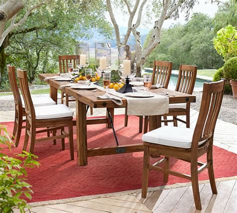 outdoor rectangular dining table benchwright outdoor rectangular extending dining table