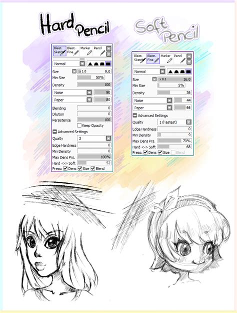 paint tool sai grunge paper 2 pencil brushes paint tool sai by ichigoarts on deviantart