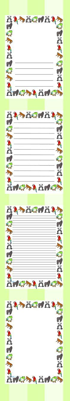 lined paper with rainforest border writing paper with jungle border how to write a paper for