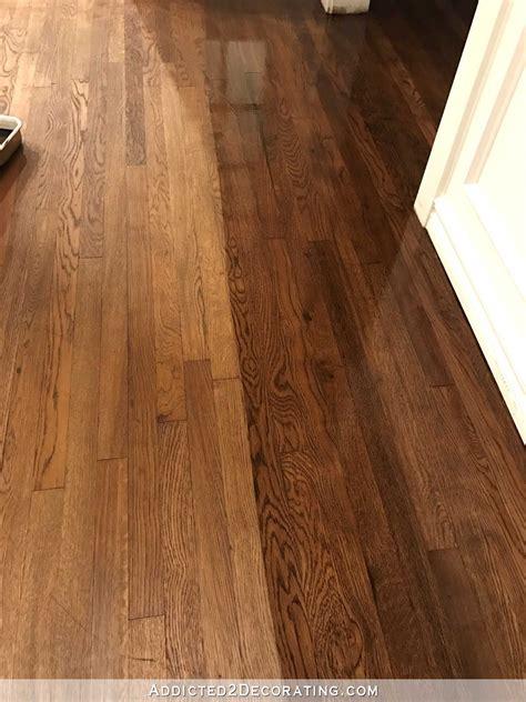 hardwood floor refinishing adventure continues tip    gorgeous finish home