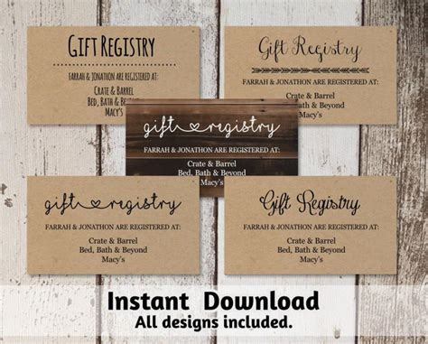 Wedding Registry Card Template by Printable Wedding Registry Card Template 2560447 Weddbook