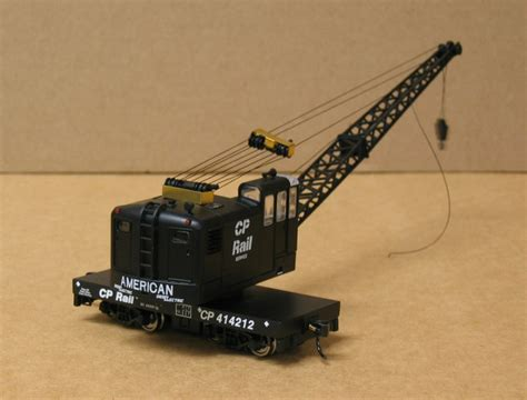 motorized crane motorized walthers american crane lettered for cp rail as
