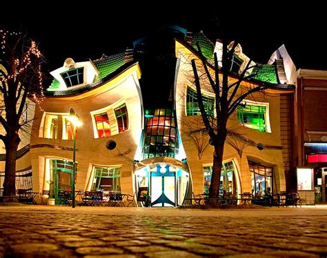 crooked house in sopot poland is like a children s book saved from