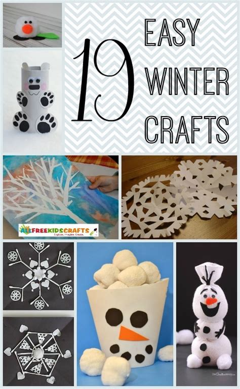 winter and craft for 19 easy winter crafts for allfreekidscrafts