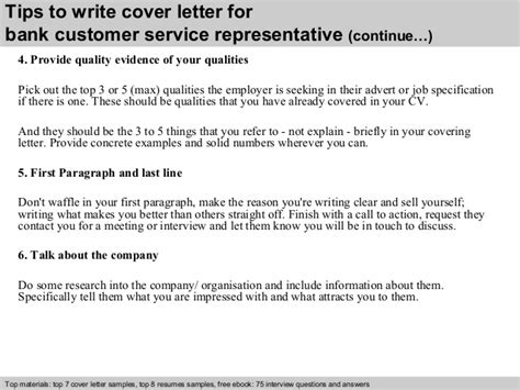 cover letter for customer service bank stonewall services