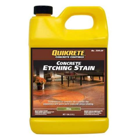 quikrete 1 gal concrete etching stain olive 721529