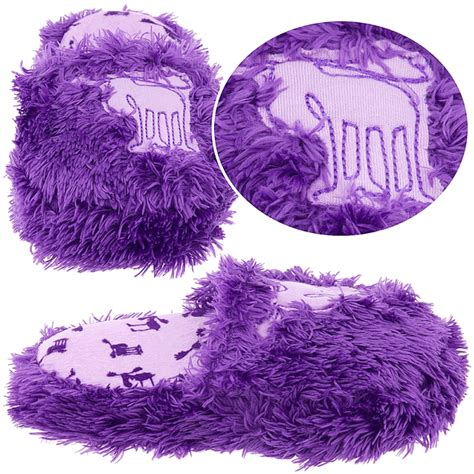 purple fuzzy slippers lazy one purple fuzzy moose slippers for