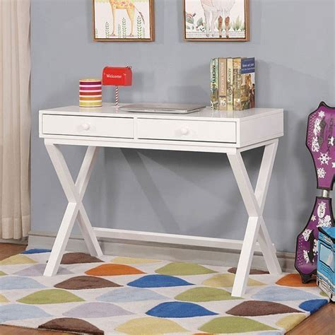 furniture of america conroe youth desk white conroe