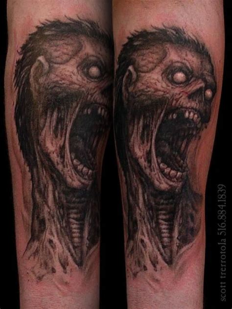 tattoo zombie pictures 129 best zombie tattoos images on pinterest zombie