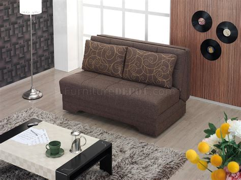 upholstery el paso el paso loveseat bed convertible in brown fabric by empire