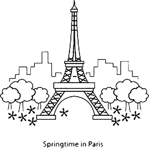printable coloring page of eiffel tower eiffel tower coloring pages coloring pages
