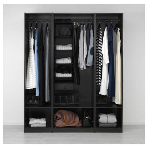 ikea pax black brown wardrobe pax wardrobe black brown 175x58x201 cm ikea