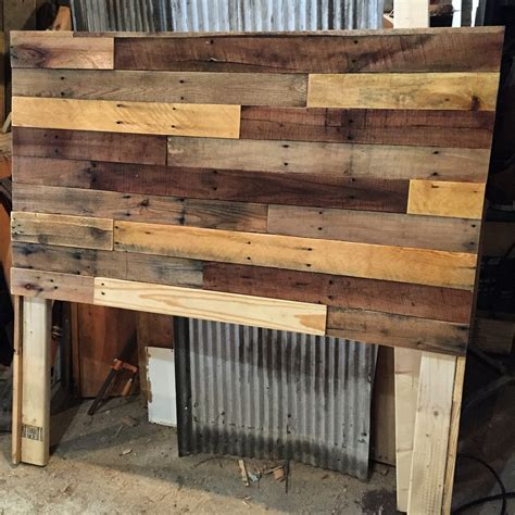 wood bed frames with headboard pallet wood headboard diy revival woodworks