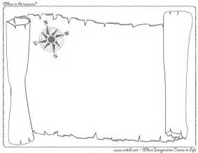 blank pirate map template where is the treasure crekid creative drawing