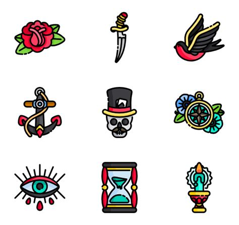old school tattoo png free vector icons svg psd png eps icon font