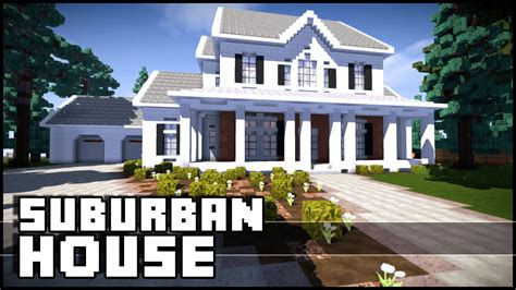 minecraft suburban house tutorial minecraft suburban house youtube