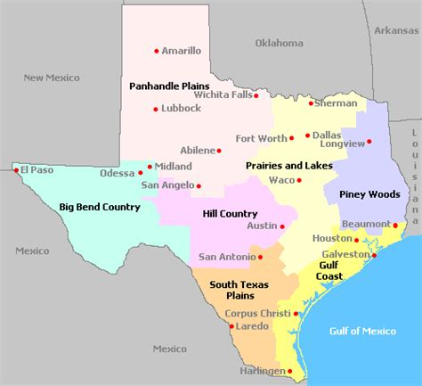 map of texas gulf coast region map of texas