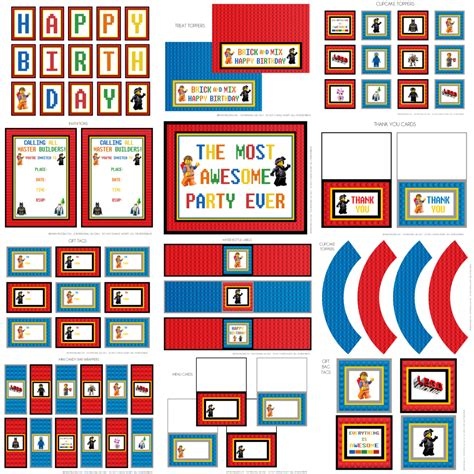The Lego Movie Birthday Party Theme Ideas Supplies Templates Decorations