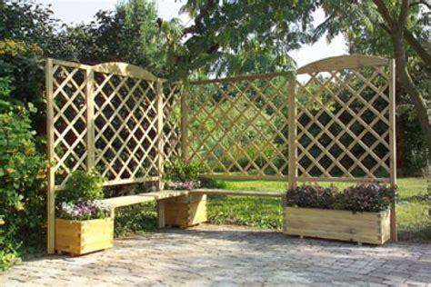 grigliati con fioriere recinzioni in legno fioriere in legno staccionate in legno