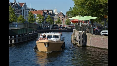 inland waterway boat rentals canal boat rentals in holland haarlem youtube