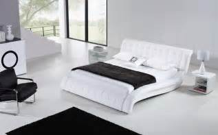 Bed Frames Minneapolis Janni White Modern Leather Bed Frame 899 99