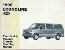 auto repair manual free download 1992 ford econoline e150 lane departure warning 1992 ford econoline club wagon electrical and vacuum troubleshooting manual