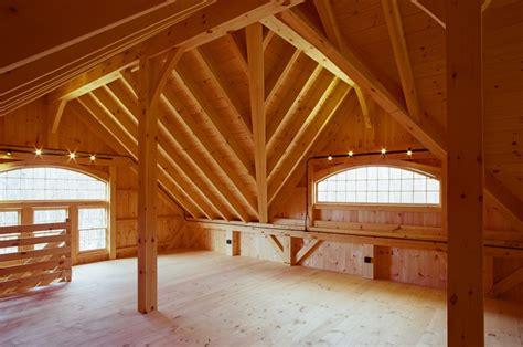 timber frame reverse gable dormer