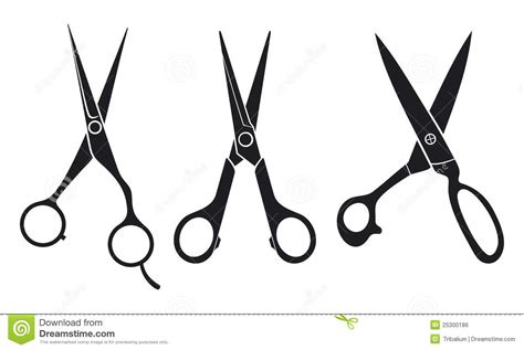 Hairstyle Tools Designs For Silhouette by Hair Stylist Scissors Clipart