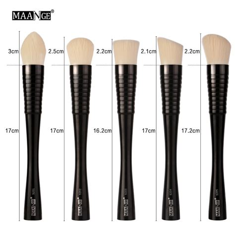 Kuas Mac 5 Pcs maange kuas make up profesional 5 pcs mag9301 black jakartanotebook