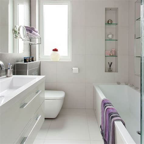 White Bath Small Modern White Bathroom Bathroom Decorating
