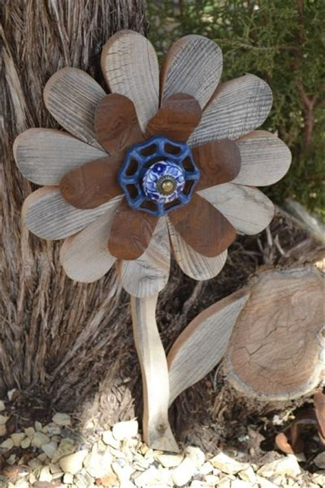 Not Just Flowers But Wooden Flowers by Rustic Fence Wood Flower Yard Rustic Indoor Home