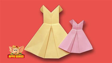 How Do You Make A Paper Doll - origami how to make a pretty dress