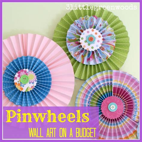 Pinwheels Out Of Paper - sofia the wreath on a budget