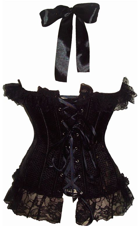 wholesale retro lace up halter overbust black and premium brocade bustier corset cf8085 wholesale black sequin halter top corset ouc647 ouc647 11 61 99corsets