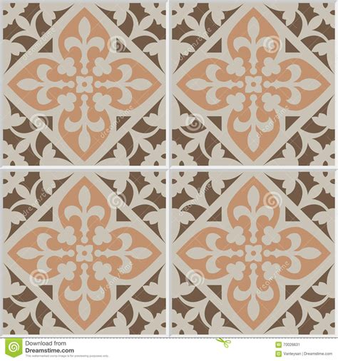 fliese floral vintage ceramic mosaic floor tile seamless pattern stock