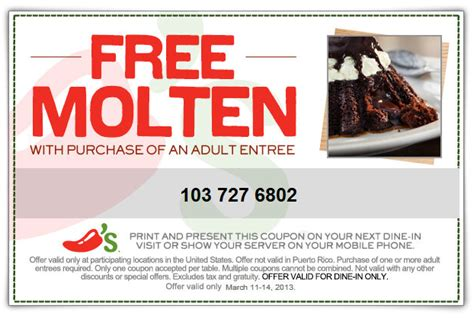 chilis printable coupon free appetizer coupon from chilis get a free appetizer or dessert with