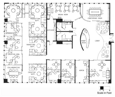 create an office floor plan interior design