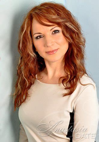 red headed women in late 40s pictures lady lone ukrainian oksana from kharkov 38 yo hair color red