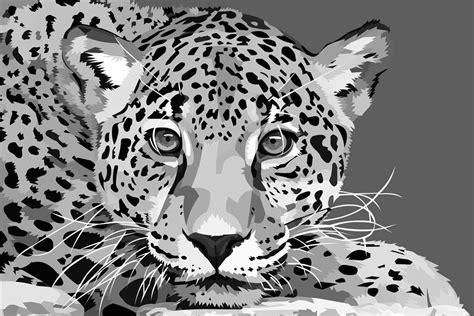 custom canvas art leopard poster leopard animal wall