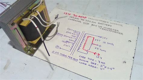 how to make 12 volt 30 battery charger transformer