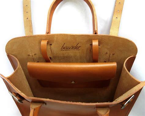 Handmade Leather Tote - handmade leather tote bag handmade carryall basader
