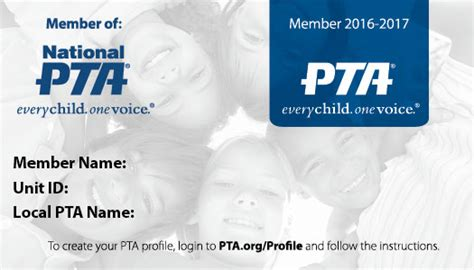 membership card resources for members national pta