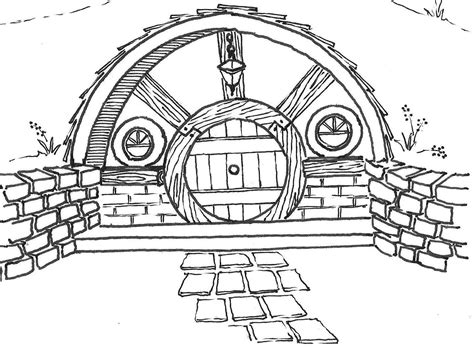 hobbit house coloring page ready setting go a novel writing site