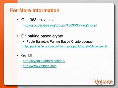 encryption tutorial powerpoint slides ppt pairing based cryptography standards powerpoint