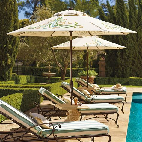 Frontgate Patio Umbrellas 9 Ft Ombre Estate Patio Umbrella Frontgate Traditional Outdoor Umbrellas By Frontgate