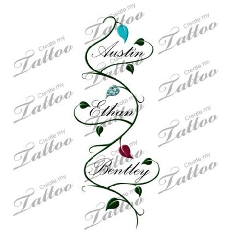 children names vine tattoos and vines on pinterest
