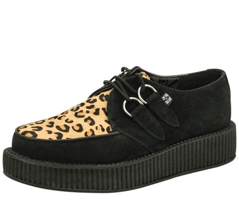 tuk low sole creepers grey or black suede or leopard creeper free