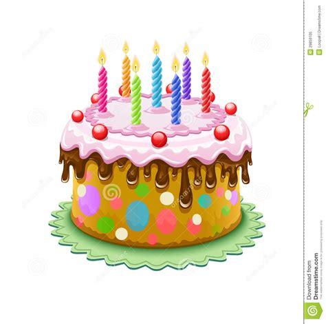 imagenes de tortas variadas torta de cumplea 241 os con las velas ardientes ilustraci 243 n